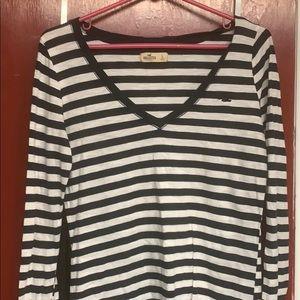 Hollister Striped Long Sleeve T-shirt (Large)